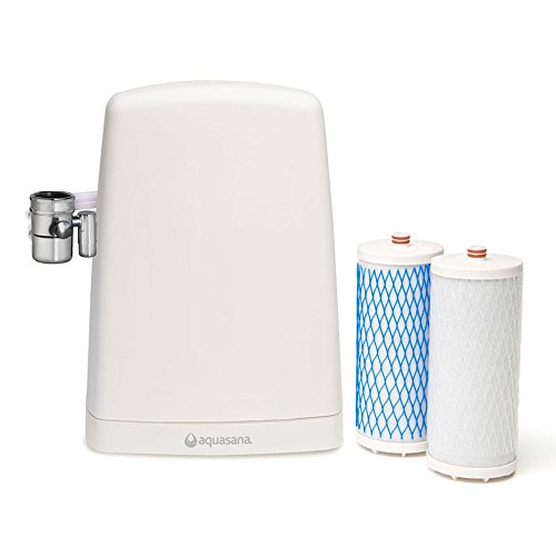 Aquasana AQ-4000W Countertop Drinking Water Filter System, White