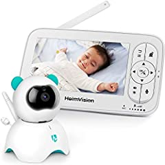 HomeVision Baby Monitor met camera, 5 inch LCD Baby Monitor, HD 720P Video, Two Ways Audio, Temperatuur en Akoestisch Alarm, Nachtzicht, Lullaby, 110° Groothoek, Tot 300m bereik*