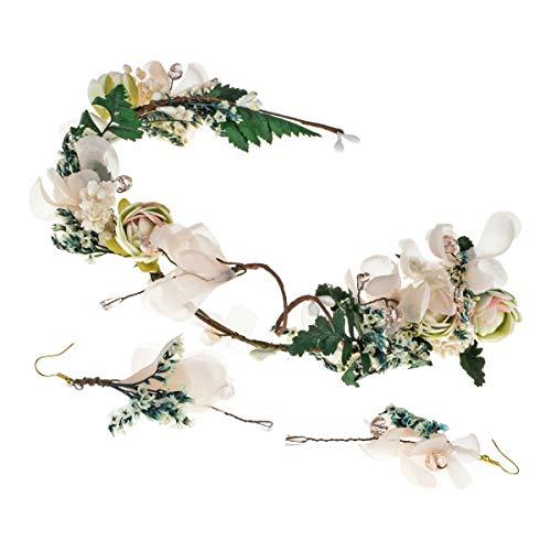 Winslet - Diadema de flores para niña, de madera de pino, flores lila