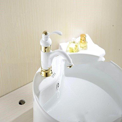 XBR le chaud et le froid du robinet, cuivre doré de style européen robinet, antiquité lavabo robinet