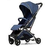 CZLSD Cochecito de bebé de aleación de Aluminio Cochecito de bebé 5.8kg Transporte de bebé Transporte de bebé recién Nacido BB (Color : Dark Blue 2)