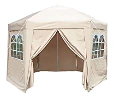 Hexagonal gazebo with 6 sides and fully waterproof