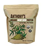 USDA Certified Organic Hemp Seed Protein - Cold Pressed Batch Tested and Verified Gluten Free Plant Based Protein - Unflavored Add it to smoothies, dips, baked goods, oatmeal or homemade energy bars for an added boost of protein! Organic, Gluten Free...