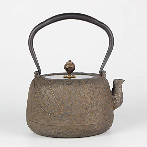 Cast Iron Teapot Southern Craft Ancient Rust Old Iron Pot Iron Pot Cast Iron Pot Pure Handmade Uncoated Health Iron Pot Best Gift (Color : Cast iron, Size : 1300ml)