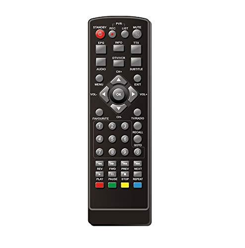 Ersatz-Fernbedienung für Receiver : Sl40 HD, HD25 HDMI, Micro : M80 HD, M25 HD Stick, M25 HD Zapper, Boca : HD170, Megasat : HD 500, HD 510, HD 550 Schwarz