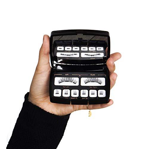 Ciglia finte magnetiche 3.0 by Zam, 2019, triplo magnete calamite resistenti, senza colla, utilizzo illimitato, effetto naturale, carnevale, drag queen, feste