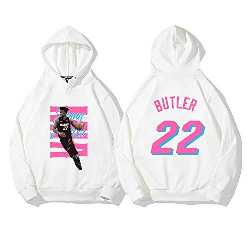 Jimmy Butler No.22 Miami Heat Men's Basketball Sudadera con Capucha Sudadera Sudadera Suelta Manga Larga Entrenamiento Cómodo Casual Top (Color : D, Size : XXL)