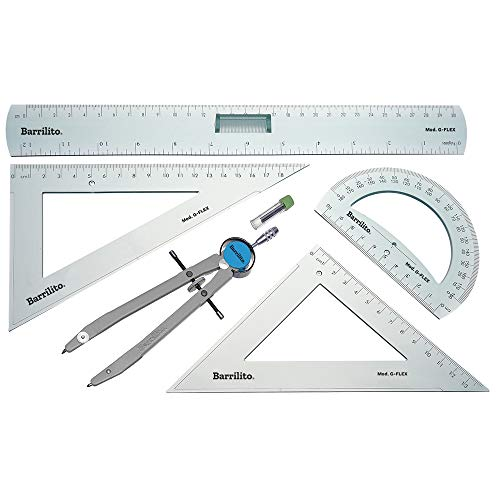 Barrilito G-FLEX Juego de Geometría de Precisión, 5 Piezas
