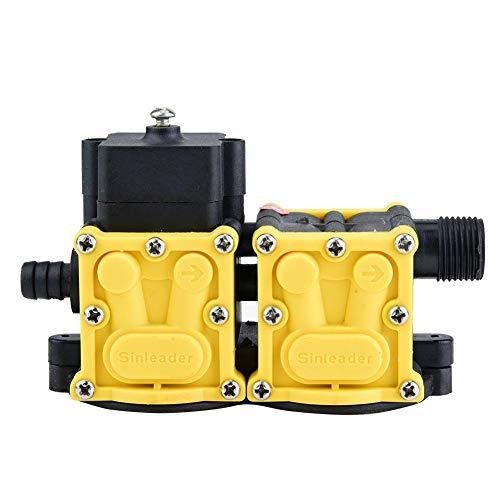 Asixx Cabezal de Bomba, Accesorios de Cabezal de Bomba de diafragma Accesorios de Motor de pulverizador eléctrico de Doble núcleo de 12 V para cortadora de césped 0