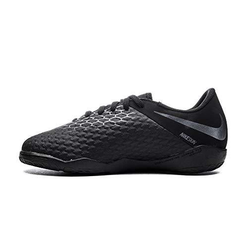 Nike JR Hypervenom 3 Academy IC, Zapatillas de Fútbol Unisex Niños, Negro (Schwarz Schwarz), 33 EU