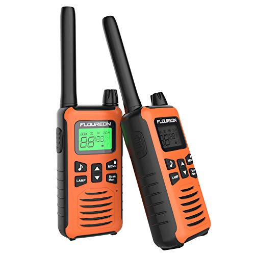 FLOUREON Walkie Talkies 2-Way Radio 3KM Range Interphone Orange-1