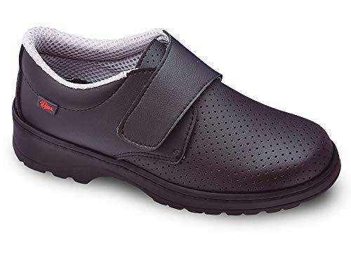 Milan-SCL picado Color Negro Talla 45, Zapato de Trabajo Unisex Certificado CE EN ISO 20347 Marca DIAN
