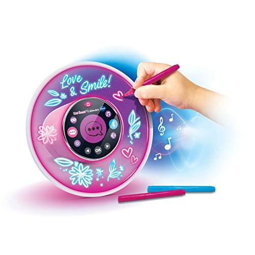 Vtech 80-531904 KidiSmart Glow Art Lautsprecher, Bluetooth Musikplayer, Wecker, mit Sprachsteuerung, vorinstallierte Musik, Spiele, Witze und Rätsel