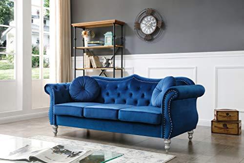 Glory Furniture Hollywood Sofas, Navy Blue