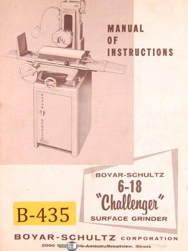 Boyar Schultz H 6-18, 17000-A, Surface Grinder, instructions & Parts List Manual