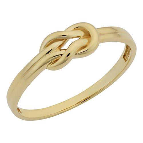 Kooljewelry 14k Yellow Gold High Polish Love Knot Ring (Size...