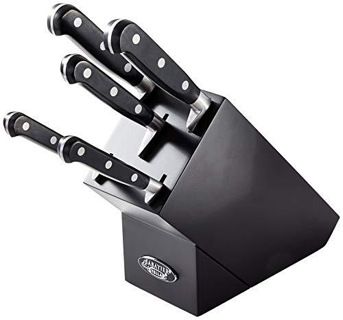Stellar Sabatier IS60B Professional Range Knife Set Block with 5 Kitchen...