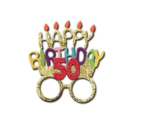 OCCHIALI PARTY Accessori idea regalo Compleanno generico. 18 anni 30 anni 40 anni 50 anni 60 anni 70 anni 80 anni (50 anni)