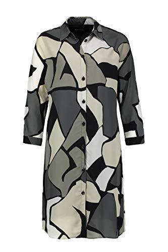 Expresso Curly Damen dunkelgrünes Tunika-Kleid mit Print-38-Dunkelgrün