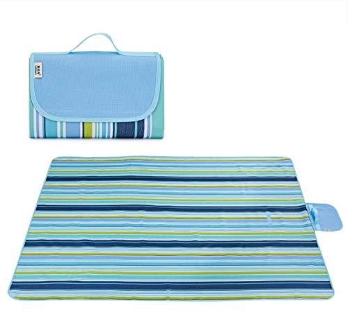 B&H-ERX Picknickdecke, tragbare Outdoor-Isomatte, robuste, Faltbare Oxford-Isomatte, große, leichte Strandmatte für Strandwanderungen im Freien,M,145 * 110CM