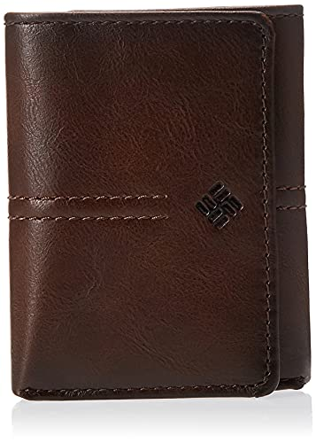 Columbia Men's RFID Trifold Wallet, Brown Emboss, One Size