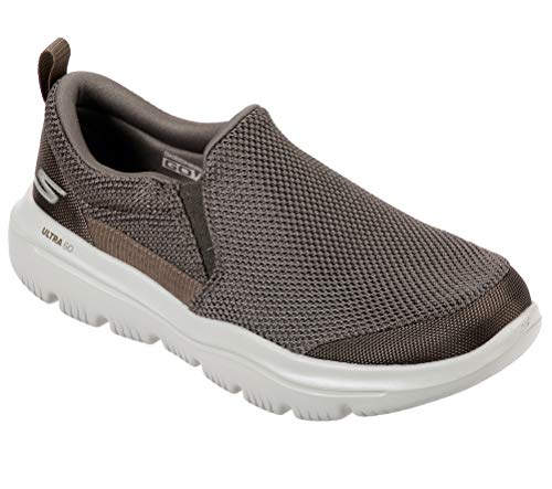 Skechers Men's GO Walk Evolution Ultra - Impeccable Sneaker, Khaki, 11.5 X-Wide