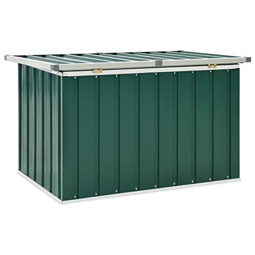 Tidyard Garten-Aufbewahrungsbox Gartenbox Auflagenbox aus Verzinkter Stahl,Aufbewahrungstruhe Werkzeugkasten Aufbewahrungskiste,zu öffnen und zu schließen mit Klappdeckel,Größenauswahl