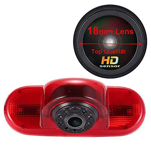 Navinio 1280X720 Pixel 1000TV Tercera luz de freno de la cámara de visión trasera Cámara de Marcha Atrás para Opel Vivaro Surf Concept life Combo Vauxhall Renault Trafic Fiat Talento Nissan Primastar