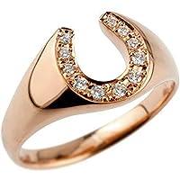 [アトラス] Atrus リング レディース 18金 ピンクゴールドk18 馬蹄 ダイヤモンド 指輪 4月誕生石 宝石 4号