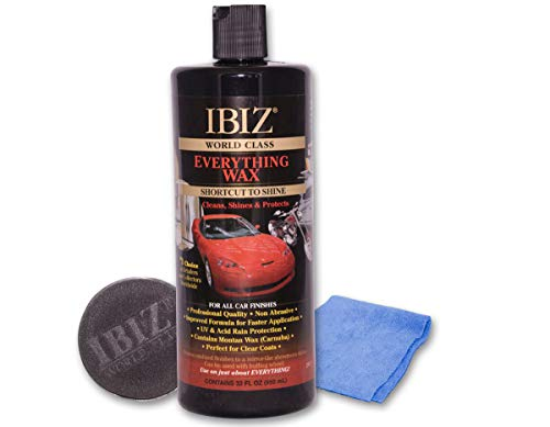 IBIZ World Class Car Wax - Professional Grade, Premium Carnauba Car Wax for Ultimate Shine and Protection. Use On Car Color.