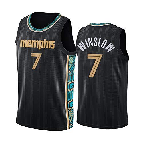 Z/A Memphis Grizzlies Justise Winslow # 7 Ropa De Baloncesto Jersey Men's Sportswear Entrenamiento Deportivo Sudadera Suelta Chaleco De Manga Corta Top Camiseta,M