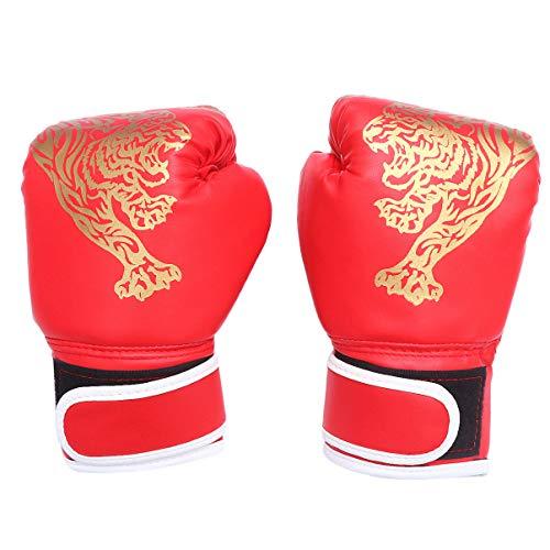CLISPEED 1 Paar Kinder Boxhandschuhe Boxtrainingshandschuhe Kleinkinder Kickboxhandschuhe Sparringshandschuhe Schwere Taschenhandschuhe für Das Boxen Muay Thai MMA Red