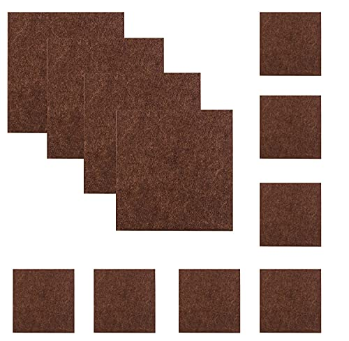 80 Piece Furniture Felt Pads Furniture Feet Self Adhesive Felt Pads 2'' and 1'' Anti Scratch Floor Protector for Furniture Legs Hardwood Floors (40pcs 2''+40pcs 1'', Square (Brown))