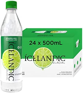 Icelandic Glacial Sparkling Water Tahitian Lime 500 Milliliter 24 Count product image