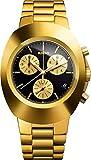 Rado Original Chronograph Gold 38mm Watch - Black Dial, PVD Bracelet R12949153