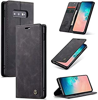 CaseMe Samsung Galaxy S10 Phone Case, High Quality PU Leather, Wallet Case,Card & Cash Slot), Magnetic Flip, Stand Functio...