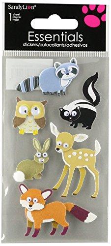 Sandylion Woodland Animals Essentials Sticker, groß