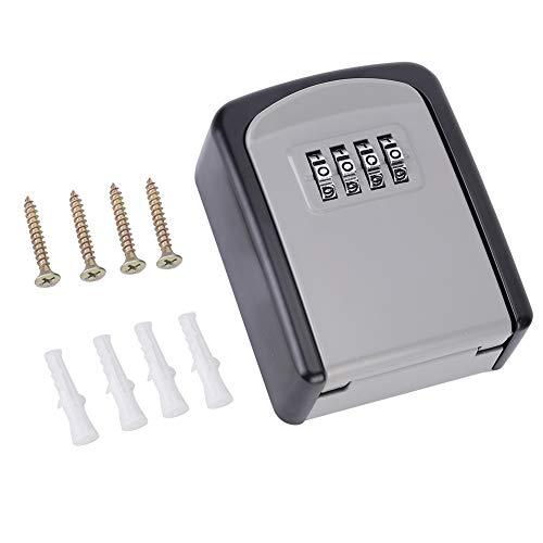 DISHUECO Caja de bloqueo de llave de contraseña de 4 dígitos para montaje en pared de seguridad de almacenamiento de seguridad