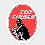 Tot Finder Retro Fire Rescue - Sticker Graphic - Car Vinyl Sticker Decal Bumper Sticker for Auto Cars Trucks