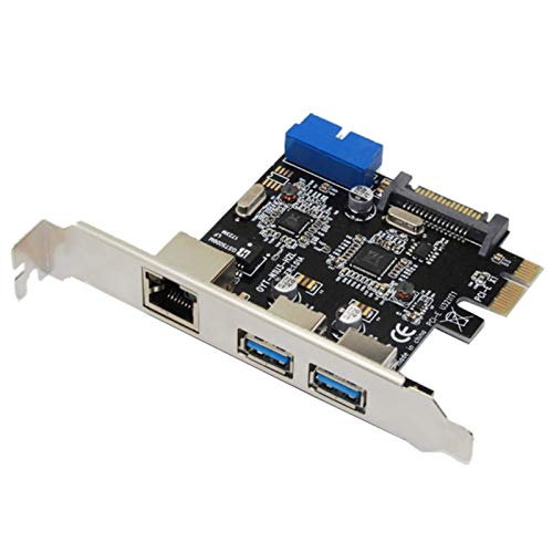 Simple Adaptador USB 3.0 Adapter 3 Port USB 3.0 HUB 10/100/1000 MBPS PCI-E A RJ45 Gigabit Network LAN Adaptador de Red USB Tarjeta de Red Fácil de Instalar y Desmontar