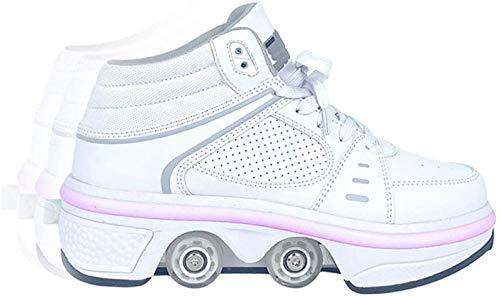 Barm Rollschuhe, Rollschuhe Rollschuhe Schuhe Mädchen Jungen Radschuhe Kinder Rad Turnschuhe Rollschuhe mit zweireihigen Rädern, UK4