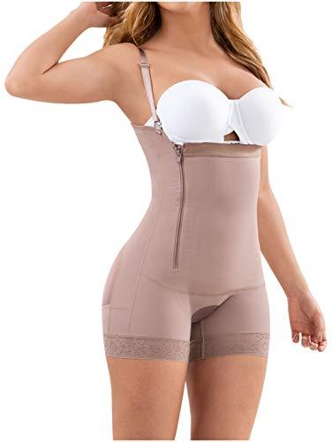 LT.ROSE 21111 Fajas Colombianas Postparto Cesarea Reductora y Moldeadora Control de Abdomen para Mujer Cocoa S