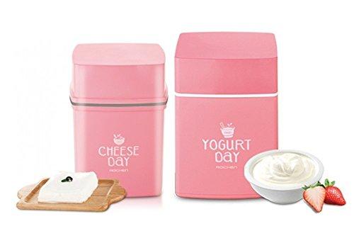 Roichen No Electric Homemade Yogurt Maker & Cheese Maker Set Pink Color