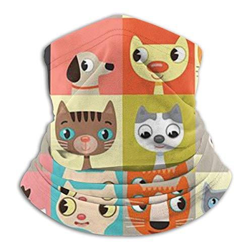 ShiHaiYunBai Tour de Cou Cagoule Microfibre Chapeaux Tube Masque Visage, Cats Collection Fleece Neck Warmer - Reversible Neck Gaiter Tube, Versatility Ear Warmer Headband & For Men And Women