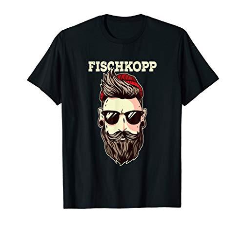 Lustiges Plattdeutsch Fischkopp Hipster T-Shirt