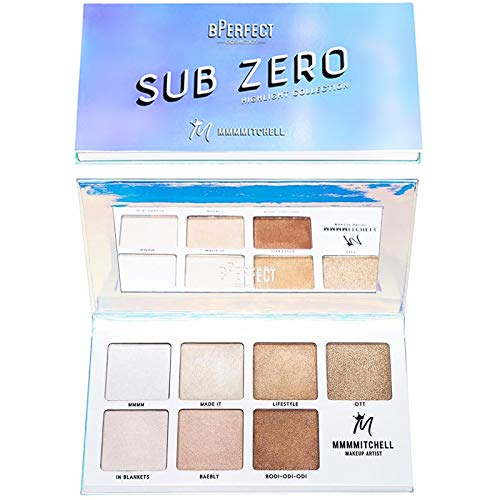 BPerfect Mmmmitchell Sub Zero Highlighter Palette Face Highlight Makeup Collection
