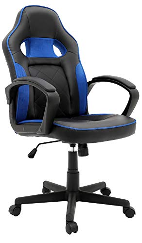 Office Chair PC Gaming Chair | PU Leather Desk Chair Swivel Computer Chair, Ergonomic Racing Chair with Lumbar Support and Armrest