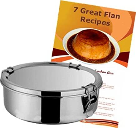 Amazon.com: Flan Mold Stainless Steel. 1.5 quart capacity, 7 ...