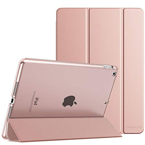 "MoKo Case Fit New iPad 8th Gen 2020 / 7th Generation 2019, iPad 10.2 Case - Slim Smart Shell Stand Cover with Translucent Frosted Back Protector for iPad 10.2"", Rose Gold(Auto Wake/Sleep)"