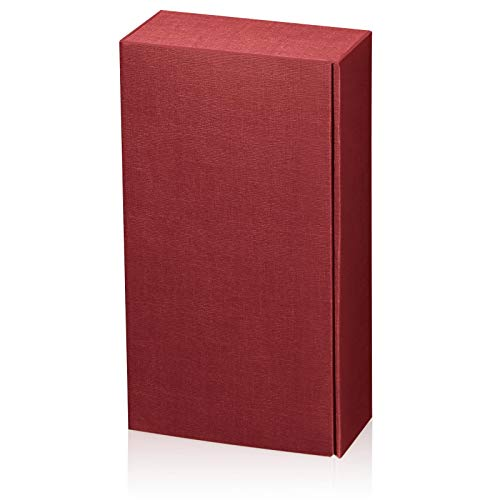 Weinverpackung Weinpräsentkarton Seta bordeaux Geschenkkarton für 2 Flaschen Maße : 360 x 180 x 90 mm VE 25 Stück